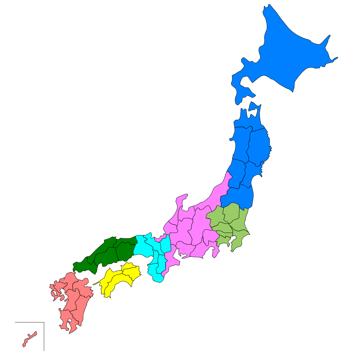 日本の地方